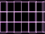 reconstrução : 3D wall cubes, white outline, Decomposes and rebuilt, pink Stock Footage