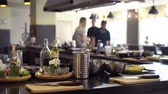 cooks : Unrecognizable people at the kitchen shot Stock Footage