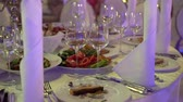 banquete : Food at tables in restaurant party