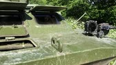 blindado : Tank dirty in forest at sunny day