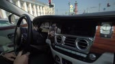 призрак : SAINT-PETERSBURG, RUSSIA - JULY 28, 2018: Driving Rolls Royce car in a city at summer sunny day