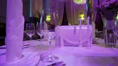banquete : Luxury restaurant interior. Banquet hall Stock Footage