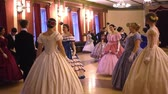tailcoat : VORONEZH, RUSSIA - APRIL 22, 2017: ballroom dancing master class during Spring ball , historical ball. People dancing in a historical costumes. Historical dance party.