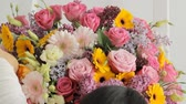 gerbera : Florists make a fashion bouquet from a huge variety of colorful flowers