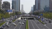 chengdu : Traffic on Tianfu avenue in Chengdu Stock Footage
