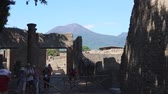 régészet : Views of the ancient Italian city of Pompeii.