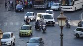 shuttle : Views of traffic from around the ancient Italian city of Rome. Stock Footage