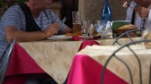 kalamar : Scenes of People Eating in Italy.