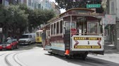 terremoto : A scene of Trolley Cars taking passengers around the city of San Francisco