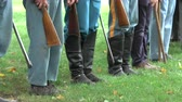 broda : View of Civil War soldiers in formation Wideo