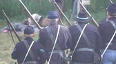 broda : View of Civil War soldiers capturing confederate flag Wideo