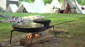 broda : Scene of a Civil War tent encampment and cooking fire
