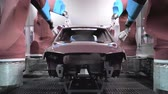 color image : industrial robots, car body paint (time-lapse)