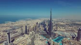 Panorama and aerial view of downtown Dubai