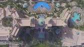 high rise buildings : view of the hotel Atlantis in Dubai (drone footage) Stock Footage