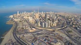 kurtuluş : view from the heights of the city Kuwait Stok Video