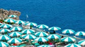 blankyt : beach umbrellas top view aerial perspective