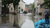 storm drain : GERA - JUNE 3: The massive flooding on June 3, 2013 in Gera, Germany. natural disaster