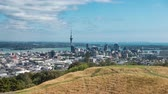 skytower : City Center And Harbour Timelapse Auckland, New Zealand.