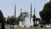 Blue Mosque from Istanbul Stock Footage