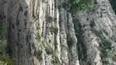 beautiful rocky landscape of camino del rey at el chorro in andalusia in spain