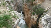 kings canyon : beautiful rocky landscape of camino del rey at el chorro in andalusia in spain
