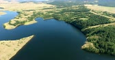 helicóptero : Aerial view of the beautiful lake near Zlatibor, Serbia