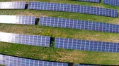 fazenda : Aerial flight over blue solar panels