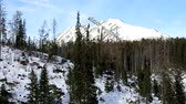 Strbske Pleso, High Tatras, Slovakia in winter Wideo