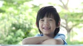 tailândia : Close up of happy asian child slow motion