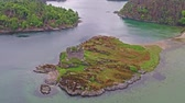 cantaria : Aerial view of the old ruined Castle in the Highlands of Scotland - Long distance flight part 03