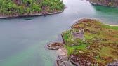 cantaria : Aerial view of the old ruined Castle in the Highlands of Scotland
