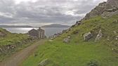 establishing shot : Time lapse of the beautiful coast landscape by Ardfern, Argyll