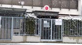 domborít : Munich  Germany - February 17 2018 : The consulate general of Turkey in the snow storm Stock mozgókép