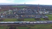 moers : MOERS  GERMANY - JANUARY 03 2016 : Aerial of the industrial area Eurotec Stock Footage