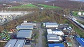 gasoline tank : Moers  Germany - January 03 2016 : Aerial of the industrial area Eurotec with the view from Rinnen to Ineos