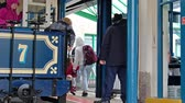 pessoal : Llandudno  Wales - April 22 2018 : Folks getting off the Great Orme Tramway