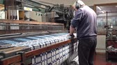 snowdonia : Trefriw  Wales - April 24 2018 : Historic woolen mill production in Wales - United Kingdom Stock Footage