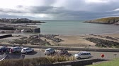 outstanding : Cemaes  Wales - April 26 2018 : Cemaes is declared as an area of outstanding natural beauty but with a nuclear power plant Stock Footage