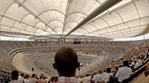 arremesso : Frankfurt  Germany - August 03 2018: People of many nations gathering in the football stadium