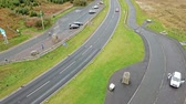 Scotland  England - October 06 2018 : Cars passing the border between Scotland and England