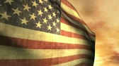 United States of America flag in the sky Stock Footage