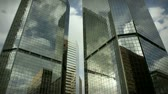 Time lapse of corporate buildings