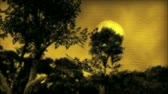 com medo : (1057) Surreal Landscape with Dark Forest and Sunset Moonlight