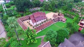 ton : Aerialview of Wat Ton Khen, old wooden temple in lanna style, Chiang Mai, Thailand