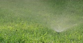 diffuse : Garden Irrigation system spray watering lawn Stock Footage