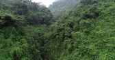 овраг : Aerial View of Waterfall in the Tropical Rainforest Mountains