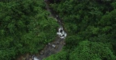 wildness : Aerial View of Waterfall in the Tropical Rainforest Mountains