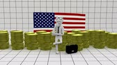 обязательство : Business in America - finance concept - white man with money