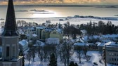 regata : Timelapse of Hanko in the winter on a cloudy day Vídeos